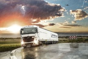 Rhenus Taiwan - Truck and sunset